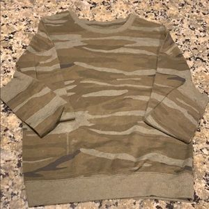 Long Sleeve Camo Sweater